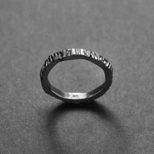 welfe silver ashen 2 ring