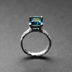 welfe corroded topaz ring