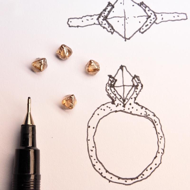 welfe jewellery sketch design phase