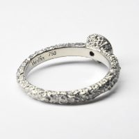 welfe 18ct white gold and champagne diamond engagement ring