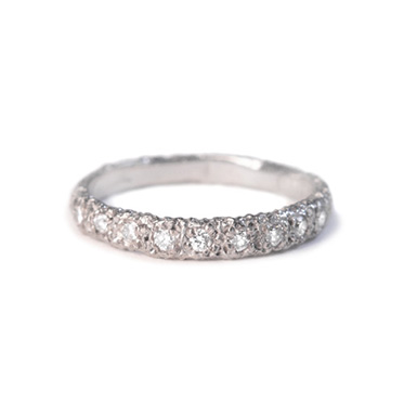 welfe jewellery jewelry textured sunken eroded 18ct white gold white diamonds ring