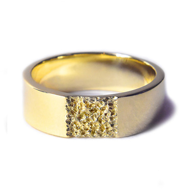 welfe designer gold jewellery jewelry 18ct gold sunken textured erdoded wedding band 8mm wide