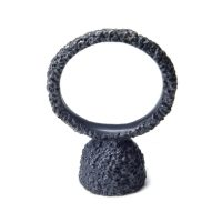 welfe jewellery Pod ring in oxidised silver and akoya pearl