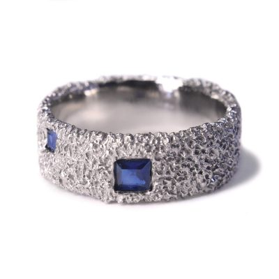 welfe jewellery 8mm gold ring with australian sapphires