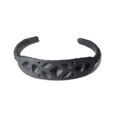 welfe jeweller lost gems oxidised sterling silver cuff