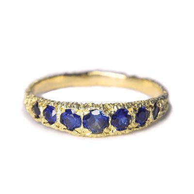 welfe jewellery phases ring 18ct gold Australian sapphires