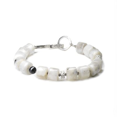welfe jewellery moon bracelet silver moonstone and hawkeye