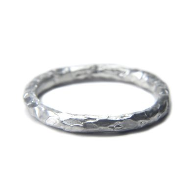 melted ring 02 polished sterling silver ring by Welfe.
