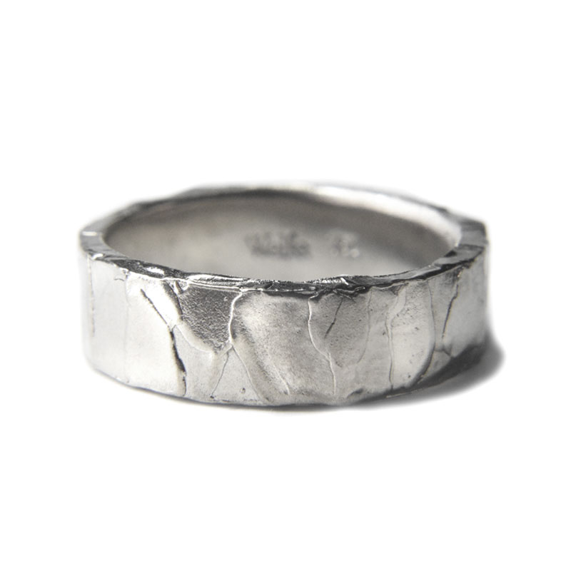 6mm melted ring in polished silver by Welfe.