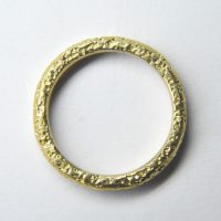 pitted staker ring in 18ct yellow gold