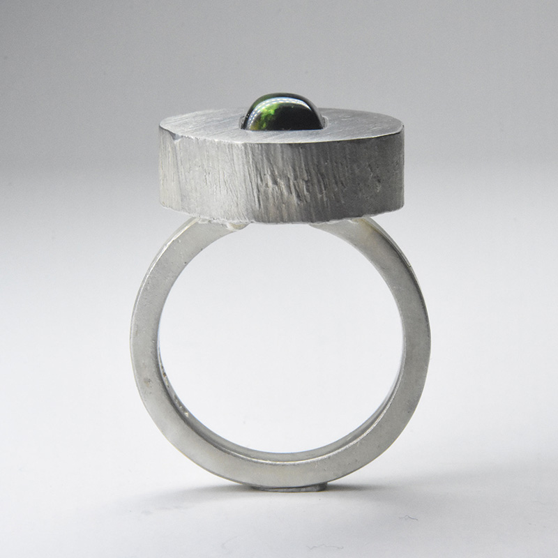 welfe bowyer sugraloaf ring sterling silver with australian parti sapphire